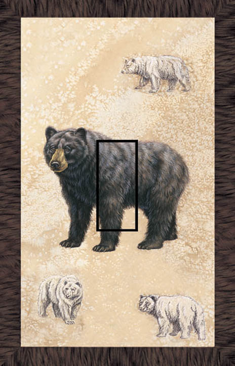 Black Bear 1C Single Toggle SwitchStix Peel and Stick Switch Plate Cover Décor