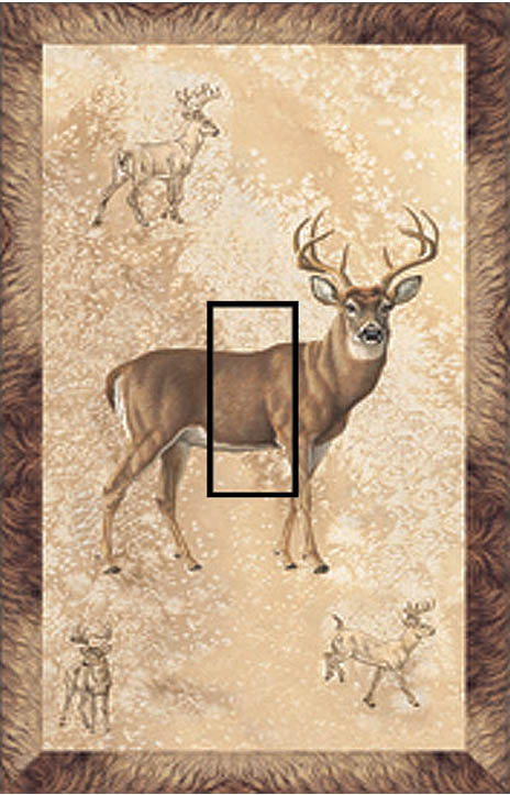 Whitetail Single Toggle SwitchStix Peel and Stick Switch Plate Cover Décor