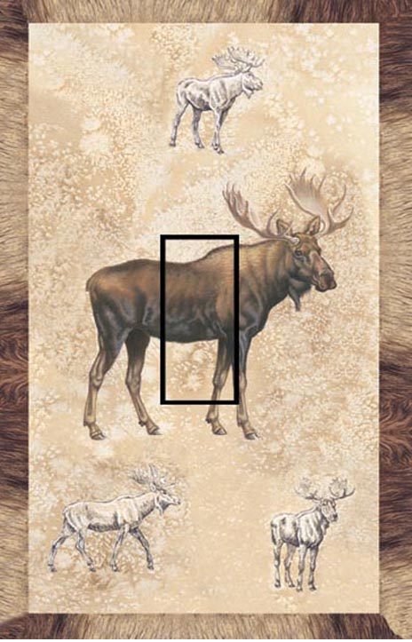 Moose Single Toggle SwitchStix Peel and Stick Switch Plate Cover Décor