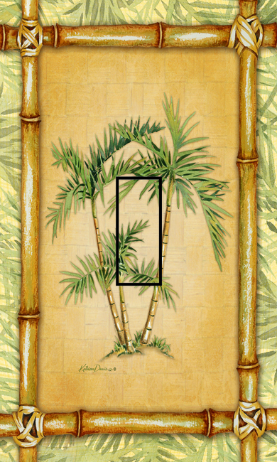 Bamboo Palm Single Toggle SwitchStix Peel and Stick Switch Plate Cover Décor