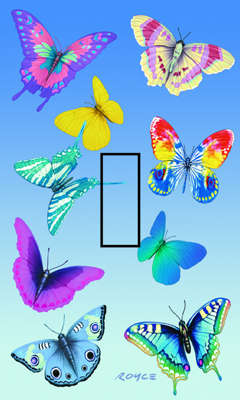 Butterfly Magic Single Toggle SwitchStix Peel and Stick Switch Plate Cover Décor