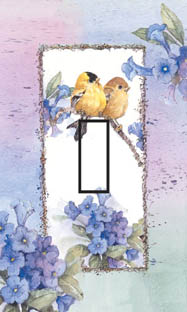Goldfinch Summer Single Toggle SwitchStix Peel and Stick Switch Plate Cover Décor