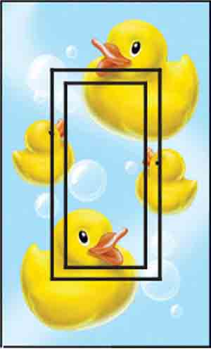 Ducky Single Rocker SwitchStix Peel and Stick Switch Plate Cover Décor