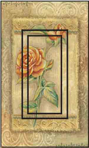 Rose Single Rocker SwitchStix Peel and Stick Switch Plate Cover Décor