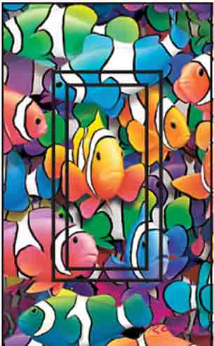 Clown Fish Single Rocker SwitchStix Peel and Stick Switch Plate Cover Décor