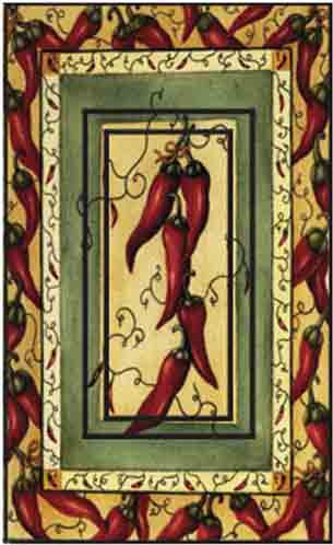 Chili Pepper Single Rocker SwitchStix Peel and Stick Switch Plate Cover Décor