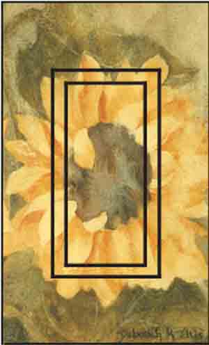 Sunflower D Single Rocker SwitchStix Peel and Stick Switch Plate Cover Décor