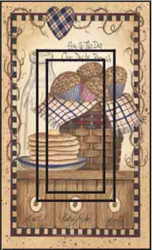 Our Daily Bread Single Rocker SwitchStix Peel and Stick Switch Plate Cover Décor