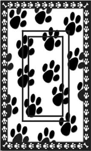 Dog Paw Prints Single Rocker SwitchStix Peel and Stick Switch Plate Cover Décor