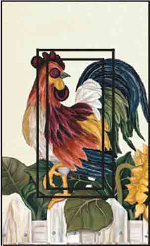 Roosters Single Rocker SwitchStix Peel and Stick Switch Plate Cover Décor