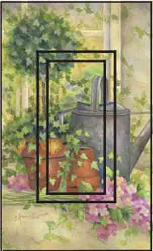Summer Morning Single Rocker SwitchStix Peel and Stick Switch Plate Cover Décor