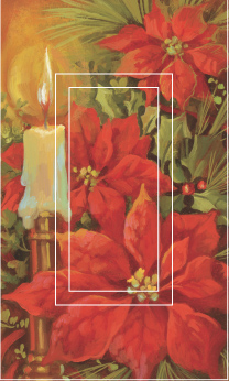 Poinsettia & Candle Single Rocker SwitchStix Peel and Stick Switch Plate Cover Décor