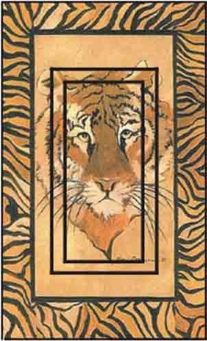 Tiger Single Rocker SwitchStix Peel and Stick Switch Plate Cover Décor