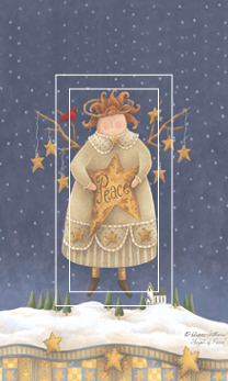 Angel of Peace Single Rocker SwitchStix Peel and Stick Switch Plate Cover Décor