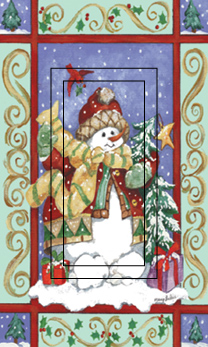 Fancy Snowman Single Rocker SwitchStix Peel and Stick Switch Plate Cover Décor