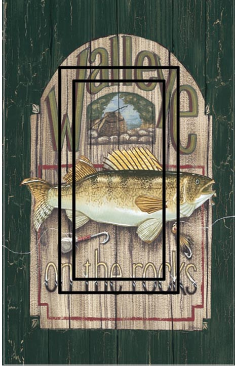 Walleye Single Rocker SwitchStix Peel and Stick Switch Plate Cover Décor