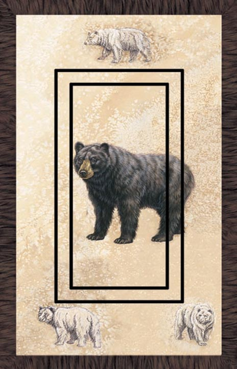 Black Bear 1C Single Rocker SwitchStix Peel and Stick Switch Plate Cover Décor