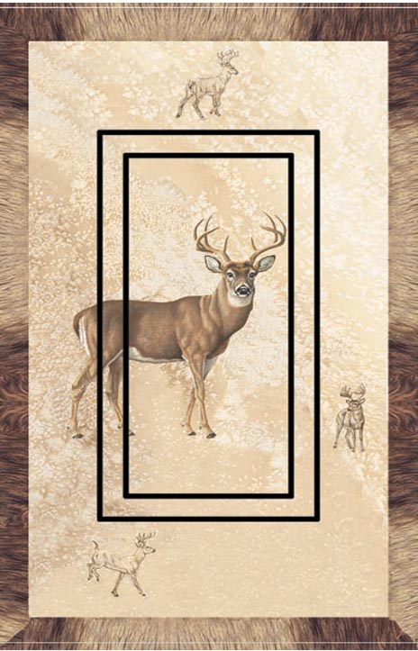 Whitetail Single Rocker SwitchStix Peel and Stick Switch Plate Cover Décor