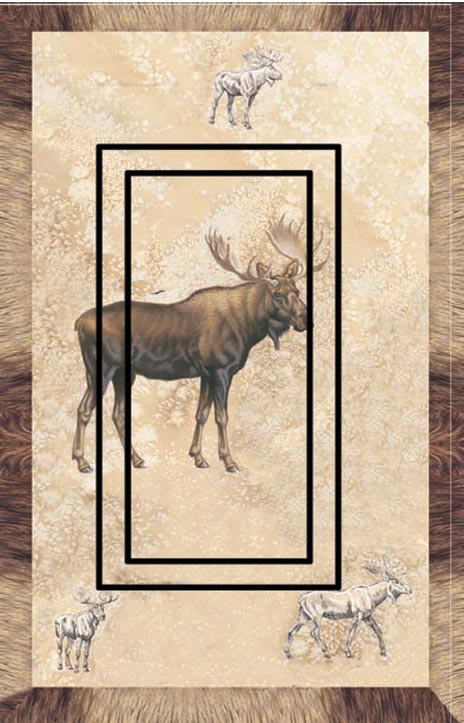Moose Single Rocker SwitchStix Peel and Stick Switch Plate Cover Décor