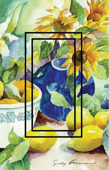 Lemon Table Single Rocker SwitchStix Peel and Stick Switch Plate Cover Décor