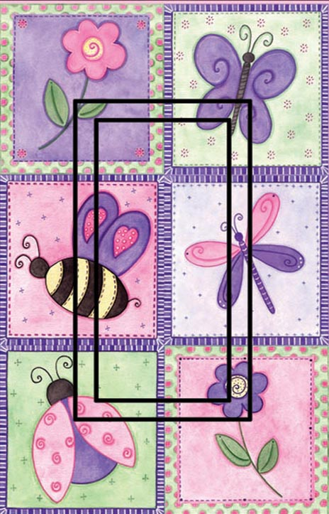 Pink Springtime OP Single Rocker SwitchStix Peel and Stick Switch Plate Cover Décor