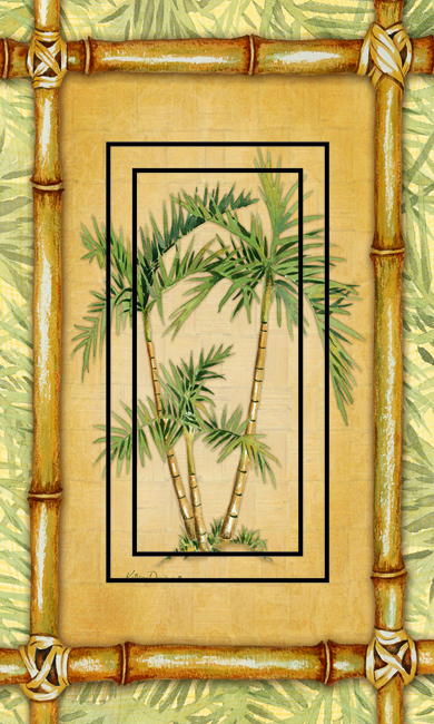 Bamboo Palm Single Rocker SwitchStix Peel and Stick Switch Plate Cover Décor