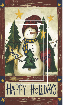 Happy Holiday Single Rocker SwitchStix Peel and Stick Switch Plate Cover Décor