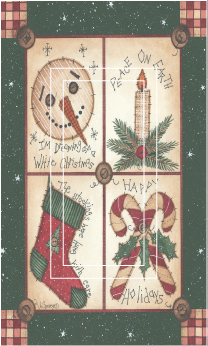Christmas Sampler Fun 1A Single Rocker SwitchStix Peel and Stick Switch Plate Cover Décor