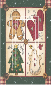 Christmas Sampler Fun 1B Single Rocker SwitchStix Peel and Stick Switch Plate Cover Décor