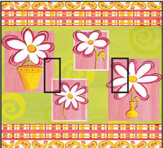 Daisy Cool & Groovy Double Toggle SwitchStix Peel and Stick Switch Plate Cover Décor