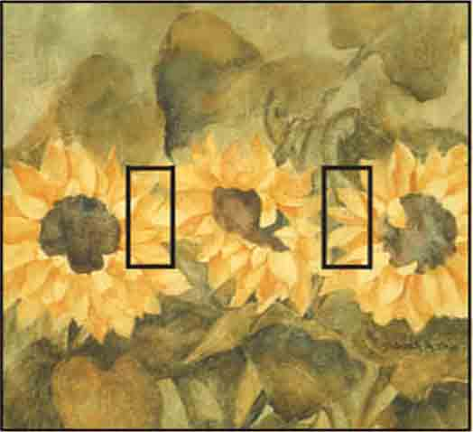 Sunflower Double Toggle SwitchStix Peel and Stick Switch Plate Cover Décor