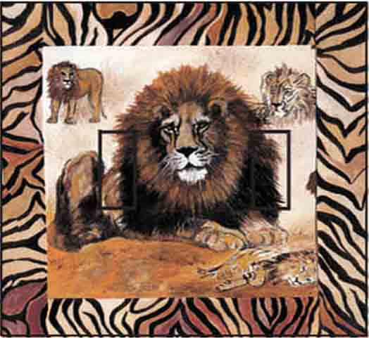Lion Double Toggle SwitchStix Peel and Stick Switch Plate Cover Décor