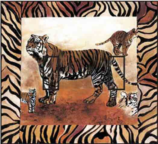 Tiger Double Toggle SwitchStix Peel and Stick Switch Plate Cover Décor