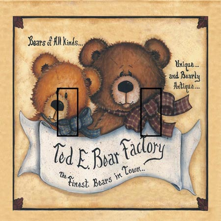 Ted E Bear 1C Double Toggle SwitchStix Peel and Stick Switch Plate Cover Décor