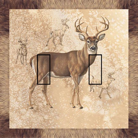 Whitetail Double Toggle SwitchStix Peel and Stick Switch Plate Cover Décor