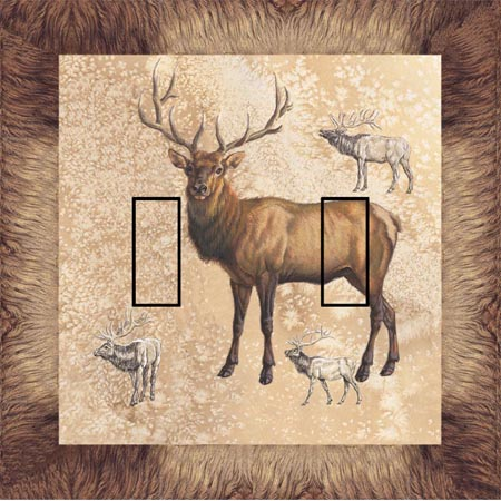 Elk Double Toggle SwitchStix Peel and Stick Switch Plate Cover Décor
