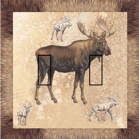 Moose 1B Double Toggle SwitchStix Peel and Stick Switch Plate Cover Décor