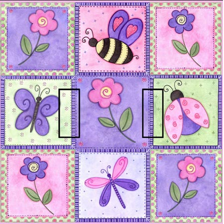 Pink Springtime OP Double Toggle SwitchStix Peel and Stick Switch Plate Cover Décor
