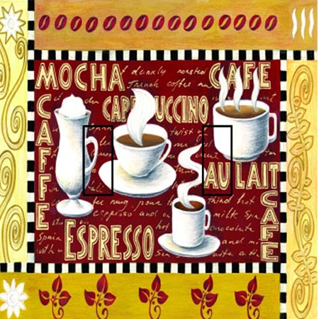Coffee Time Double Toggle SwitchStix Peel and Stick Switch Plate Cover Décor