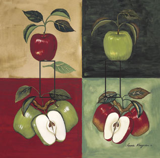 Apples & Vine Double Toggle SwitchStix Peel and Stick Switch Plate Cover Décor
