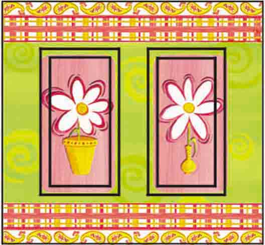 Daisy Cool & Groovy Double Rocker SwitchStix Peel and Stick Switch Plate Cover Décor
