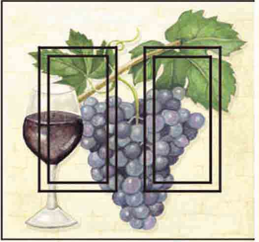 Wine Grape Double Rocker SwitchStix Peel and Stick Switch Plate Cover Décor