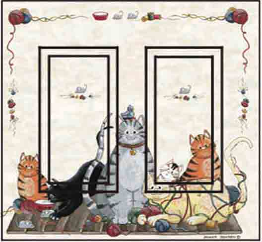 Cats Double Rocker SwitchStix Peel and Stick Switch Plate Cover Décor