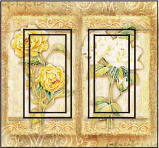 Rose Combo Double Rocker SwitchStix Peel and Stick Switch Plate Cover Décor