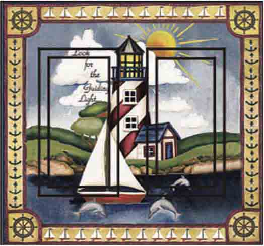 Lighthouse Double Rocker SwitchStix Peel and Stick Switch Plate Cover Décor