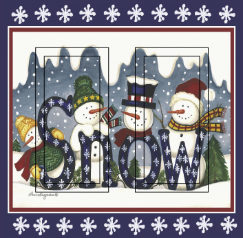 Snow Group Double Rocker SwitchStix Peel and Stick Switch Plate Cover Décor