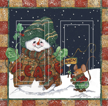 Snowman & Mouse Double Rocker SwitchStix Peel and Stick Switch Plate Cover Décor