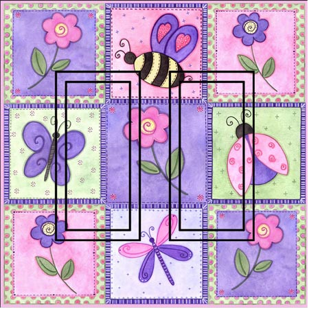 Pink Springtime OP Double Rocker SwitchStix Peel and Stick Switch Plate Cover Décor