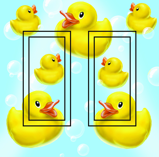 Rubber Ducky Double Rocker SwitchStix Peel and Stick Switch Plate Cover Décor