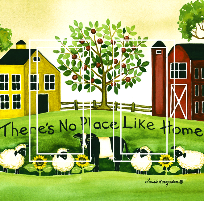 No Place Like Home Double Rocker SwitchStix Peel and Stick Switch Plate Cover Décor